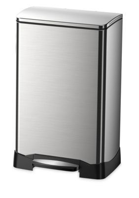 Household Essentials Stainless Steel 40L Neo Cube Step Soft Close Bin