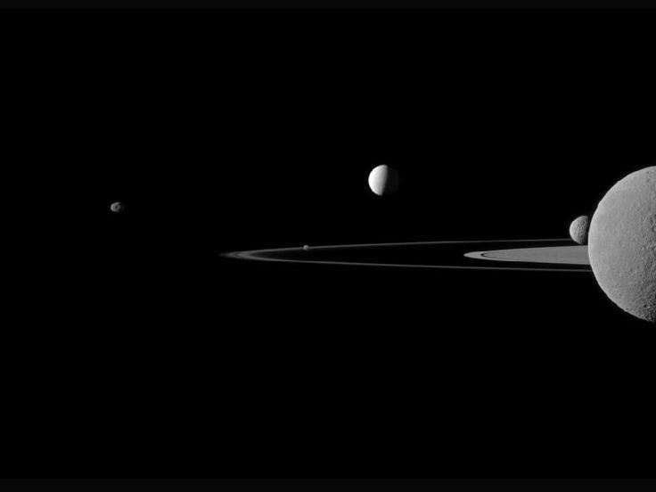 NASA - A Quintet of Saturn's Moons