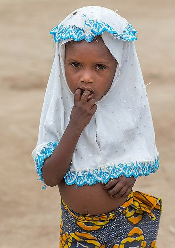 Benin, West Africa, Savalou, fulani peul tribe little girl with a muslim veil | Flickr - Photo Sharing!