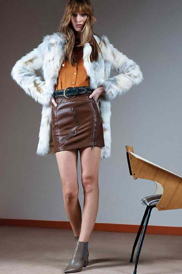 Shorts Skirt In faux fur coat Patrizia Pepe Autumn Winter