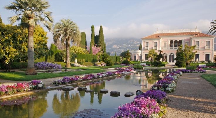Ephrussi de Rothschild Villa and Gardens. Saint-Jean-Cap-Ferrat peninsula, the villa is one of the most beautiful on the Côte d'Azur.