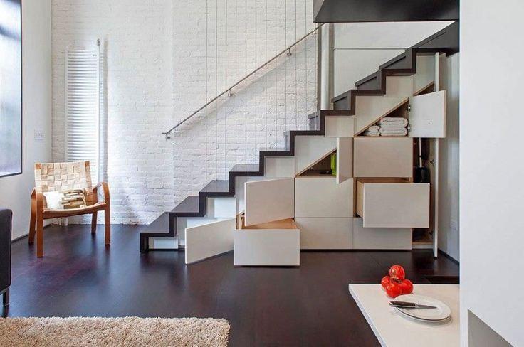 2015 İki katlı 55 m2 villa içinde harika merdiven modelleri - Merdiven örnekleri - Merdivenli dolap 1632
