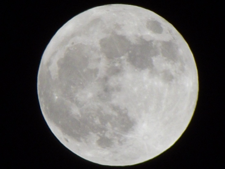 Supermoon above Omemee.  May 5, 2012
