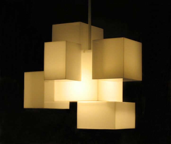 Exquisite Lighting Exquisite Lighting Design By Aaron Scott Called CUBIC CLOUD LAMP G