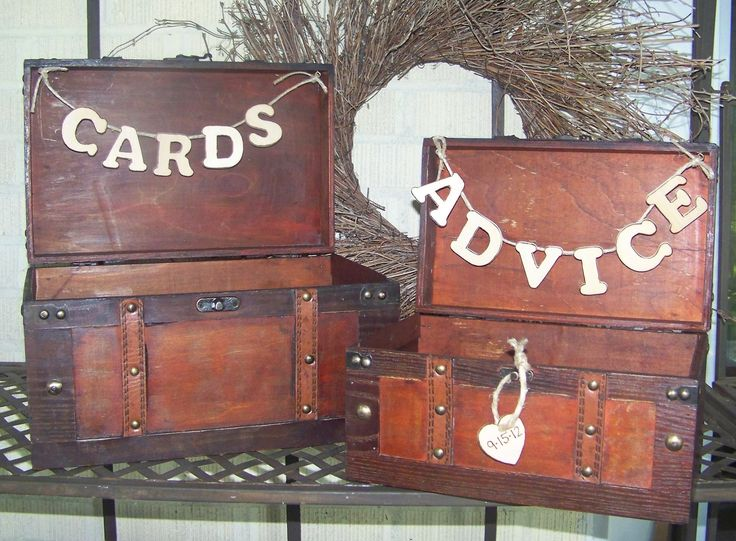 card box is a good idea and advice box is cute. Rustic Wedding Card Box / Advice Box Wooden Set of 2. $80.00, via Etsy. inspiration. shabby chic.
