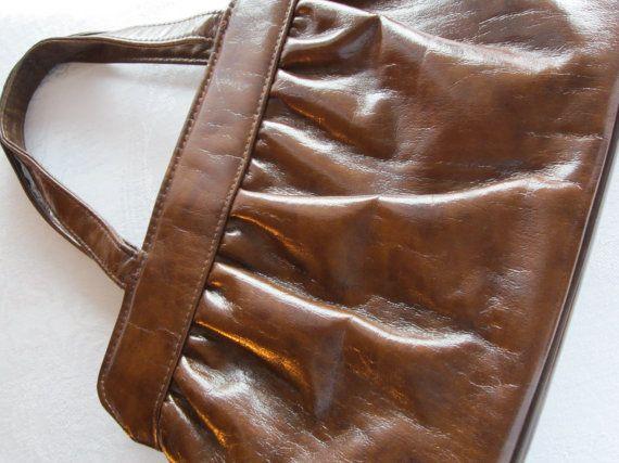 Vintage JR Purse Vintage Handbag Brown Faux by FancyVintageFinds, $19.00