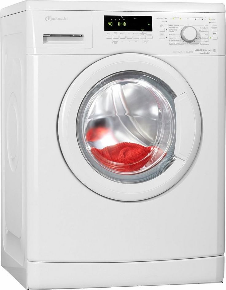 BAUKNECHT Waschmaschine Super Eco 7415, A+++, 7 kg, 1400 U/Min