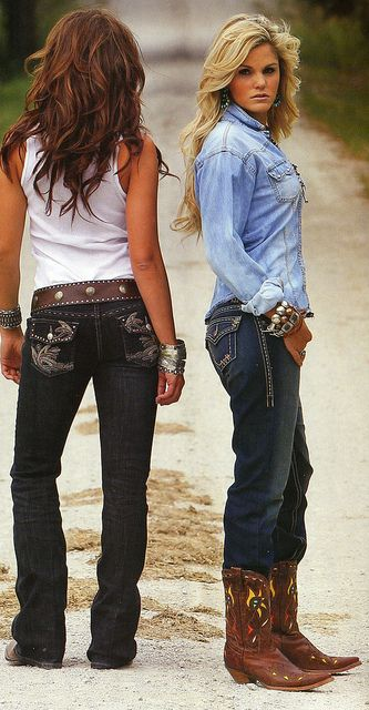 Can't go wrong with Cowboy boots and Jeans....