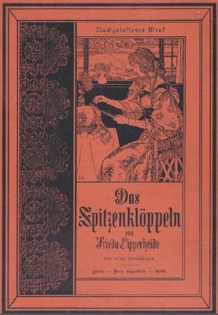 Lipperheide, Frieda. Das Spitzenklöppeln [Bobbin Lace Making], 1898 part 2. Great patterns, text in old German lettering. 5.9 MB pdf file.  http://www.cs.arizona.edu/patterns/weaving/books/lf_lace_2.pdf