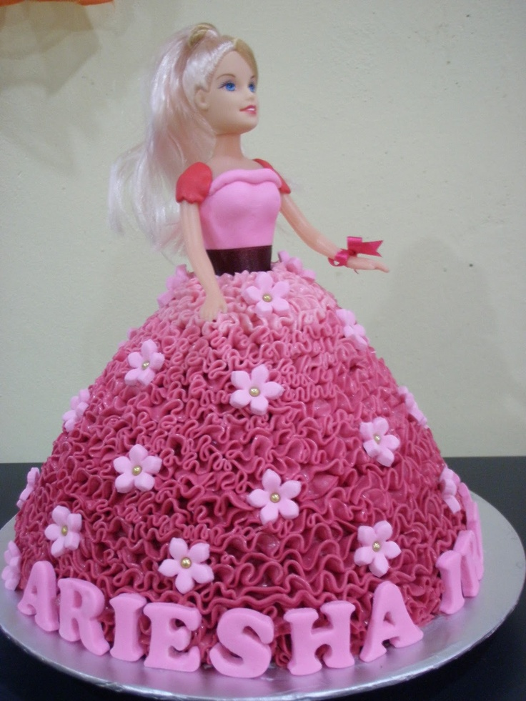 Best Barbie And Princess Cakes Images On Pinterest Barbie - Birthday cake doll designs