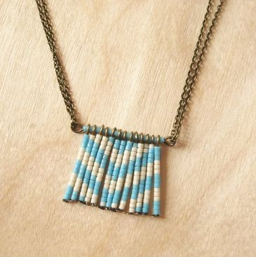 Chevron Beaded Pendant DIY - Simple tutorial from How did you make this