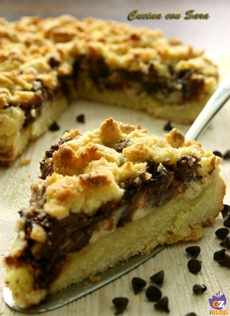 Sbriciolata con nutella e ricotta. Una torta tanto semplice da realizzare quanto veloce.Per il compleanno di mio marito Andrea