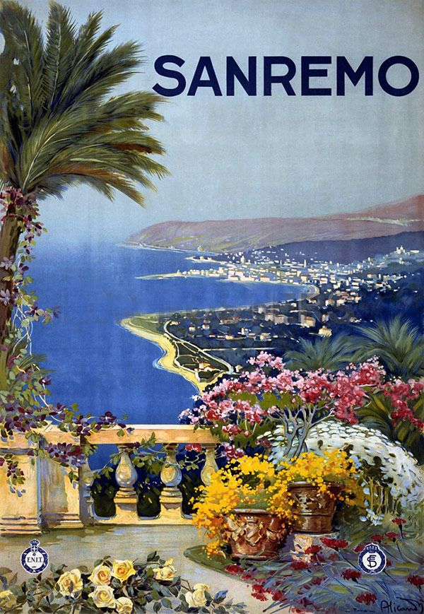 SANREMO travel poster #wowtravelclub