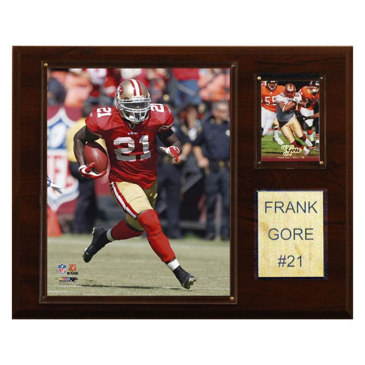 NFL 12 x 15 in. Frank Gore San Francisco 49ers Player Plaque - 1215GORE