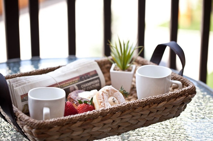 Enjoy our signature roasted Cobblestone Creek coffee, a newspaper or book and a fresh pastry for breakfast on your private deck, with incredible views of Steamboat mountain and the Purcell Mountain range.