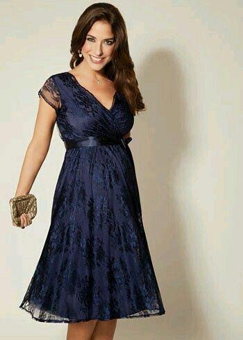 Vestido azul fiesta amplio