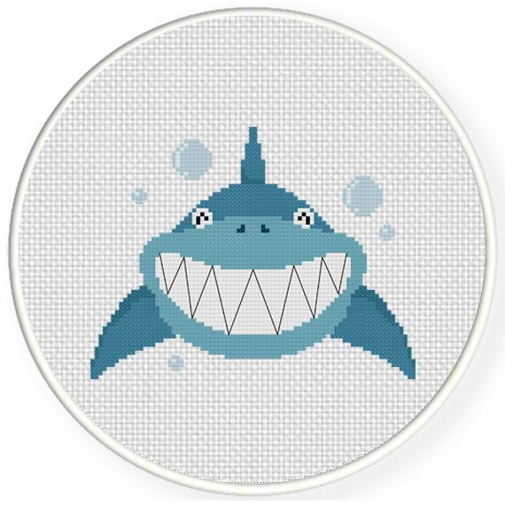 FREE for Nov 3rd 2016 Only - Smiling Shark Cross Stitch Pattern