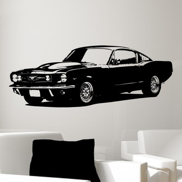 1965 Ford Mustang Classic Car Wall Decal Art CHOOSE ANY COLOR . $49.99,