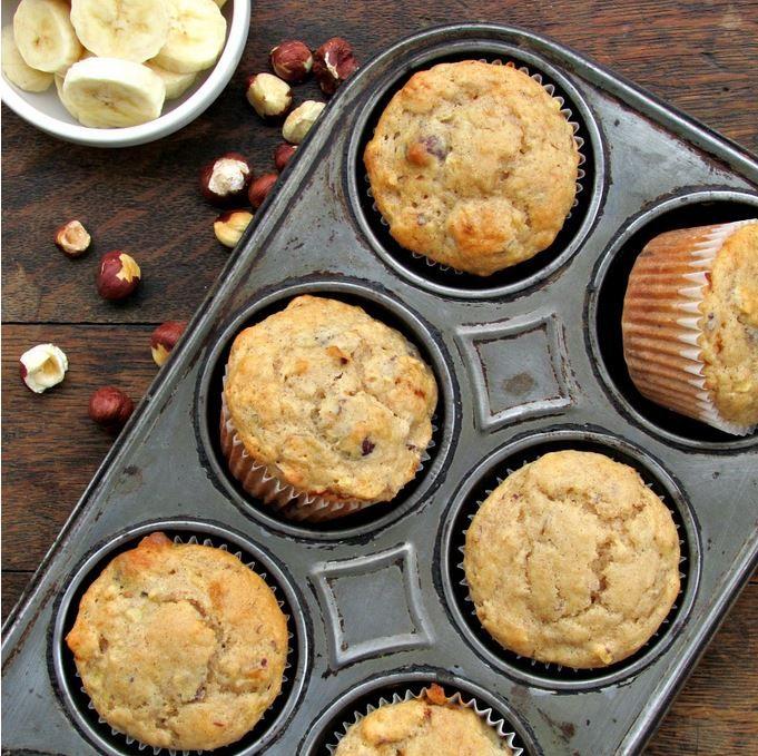 Muffinki bananowo-orzechowe