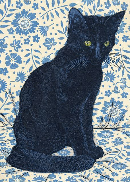 'Hector' By Printmaker Vanessa Lubach. Blank Art Cards By Green Pebble. http://www.greenpebble.co.uk