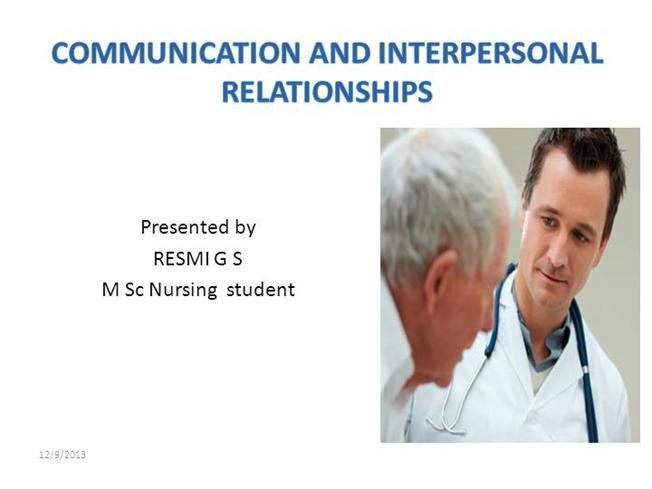 Communication And Interpersonal Relationship Ppt By Resminair1 Via Authorstream Intrapersonal Essay