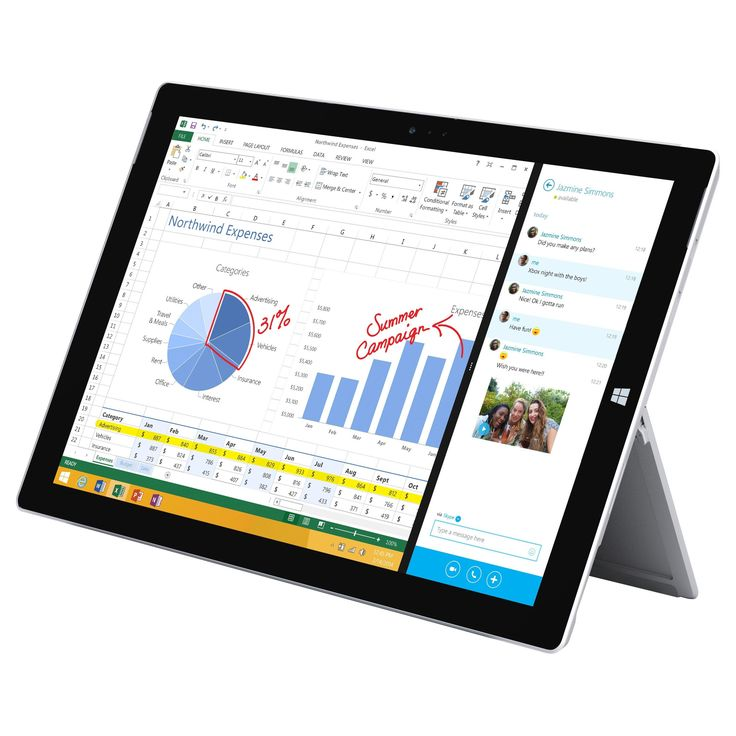 Microsoft Surface Pro 3 Tablet PC - Intel Core i5-4300U 1.9 GHz Dual-Core Processor - 8 GB LPDDR3 RAM - 256 GB Solid State Drive - 12-inch Touchscreen DIsplay - Windows 10 Professional 64-bit Edition