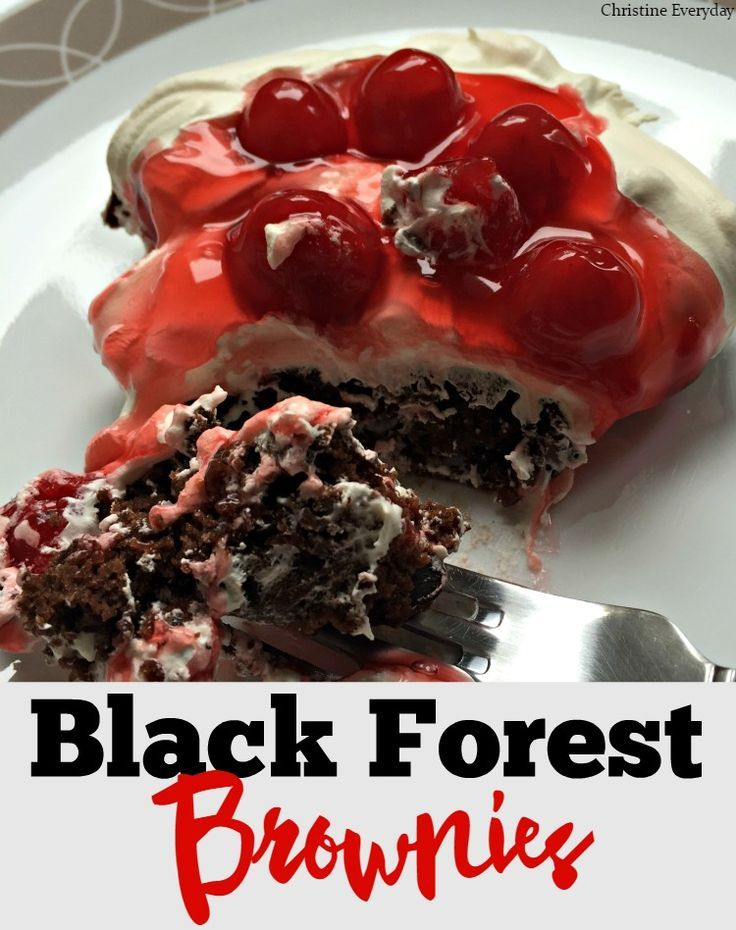 Chocolate and cherries come together to make this delicious dessert recipe for Black Forest Brownies!