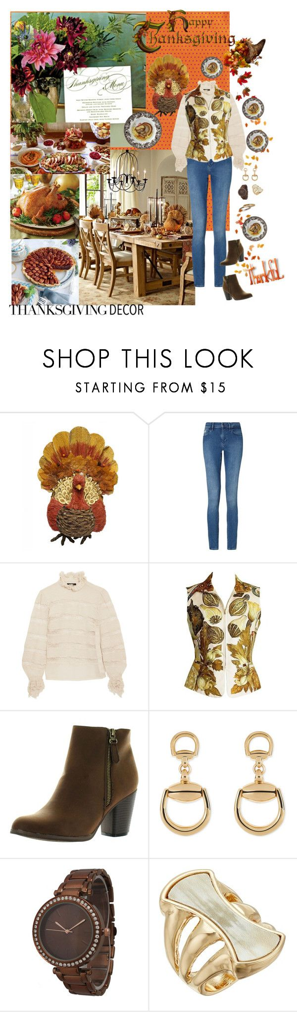 """Happy Thanksgiving 🦃"" by deborah-518 ❤ liked on Polyvore featuring Calvin Klein, Isabel Marant, Hermès, Reneeze, Gucci, Olivia Pratt and Robert Lee Morris"