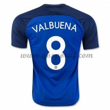 maillot de foot équipe nationale France 2016 Mathieu Valbuena 8 maillot domicile
