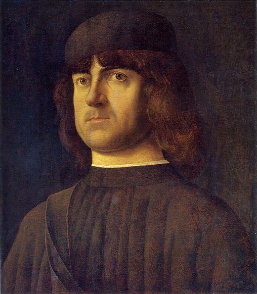 483. Alvise Vivarini - Ritratto d'uomo - 1495 circa