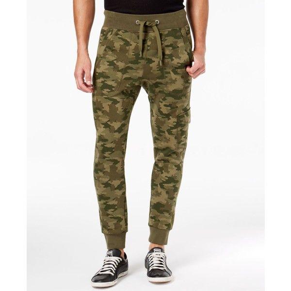 Puma Men's Camo-Print Fleece Cargo Pants ($55) ❤ liked on Polyvore featuring men's fashion, men's clothing, men's pants, men's casual pants, green, mens green pants, puma mens pants, mens camo pants, mens stretch cargo pants and mens cargo pants