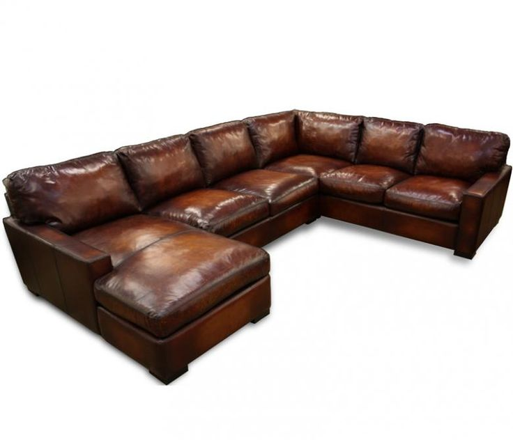 Napa Oversized Leather Sectional   Leatherfurnitureexpo.com. Distressed  Leather CouchLeather ...