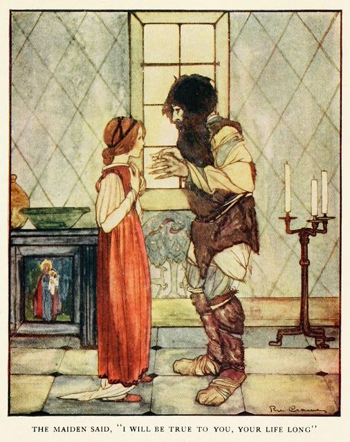 Rie Cramer illustration from edition of Grimm's Fairy Tales published by the Penn Publishing Co in 1927.