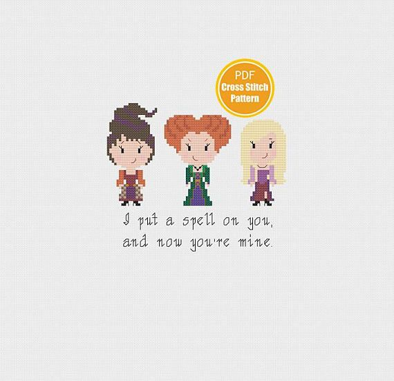 Hocus Pocus Cross stitch Pattern Halloween Cross stitch