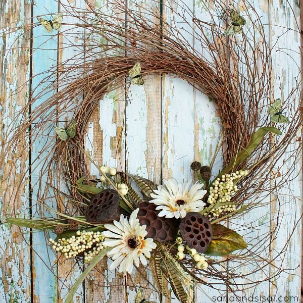 Early Fall Wreath with costal charm! From Sand and Sisal