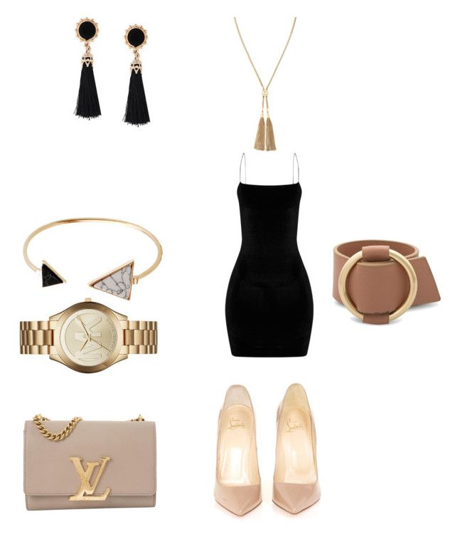 """""""Untitled #9"""" by gaulosaturne on Polyvore featuring Christian Louboutin, Louis Vuitton, Michael Kors and Stella & Dot"""