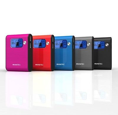 NINETEC NT565 10.000mAh PowerBank mobiler Akku Ladegerät für Smartphone Tablet