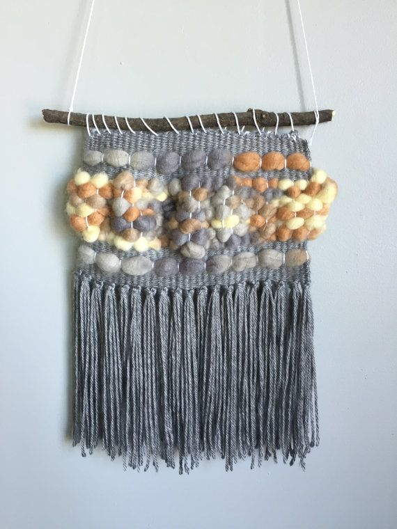 Whimsical and Rustic Weaving // Grey Peach & by TheLittleWovenShop