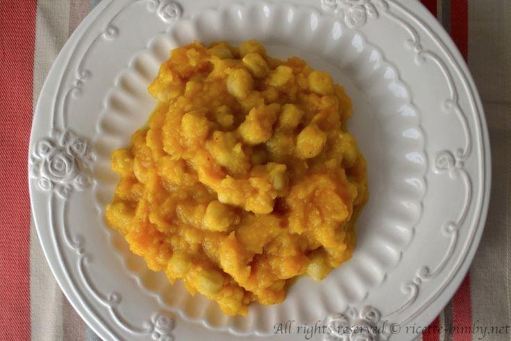 Curry vegetariano di zucca e ceci bimby