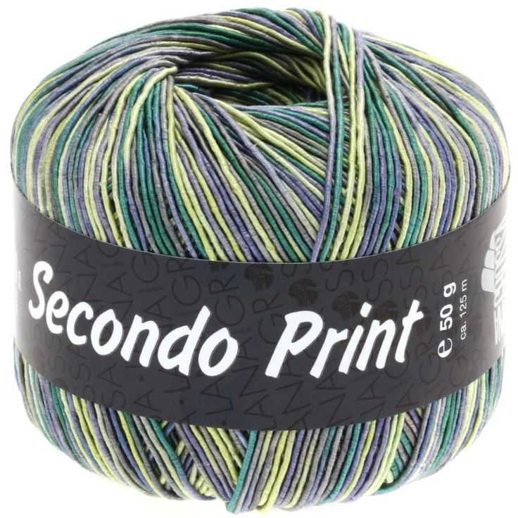 SECONDO print II 506-jeans/yellow/emerald/dark grey