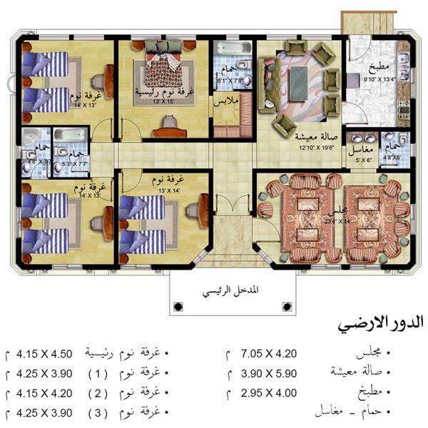 خرائط منازل شرقية أحدث التصاميم الهندسية اسقاط فلل حديثة فيلات بأشكال راقي مخططات ممي منتدى النرجس Model House Plan Architectural House Plans New House Plans