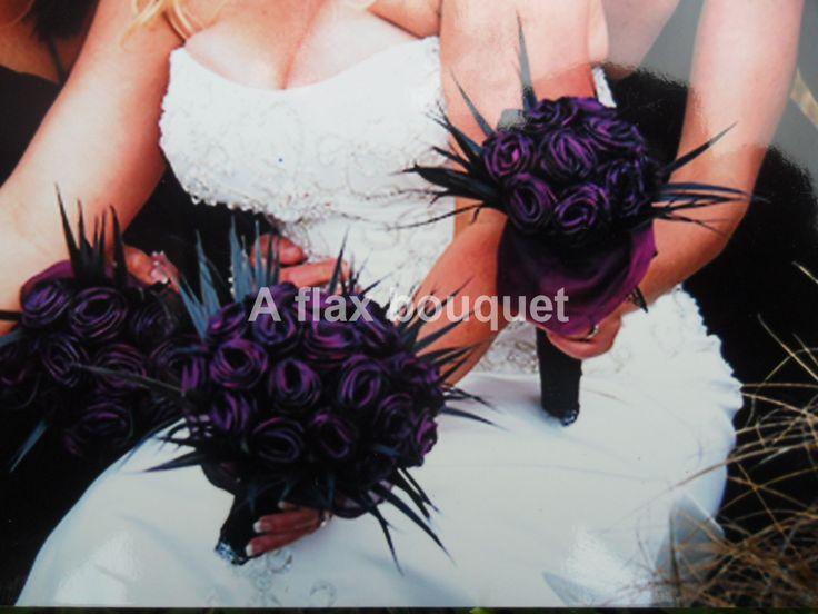 A flax bouquet wedding.
