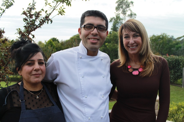Chefs Shady & Linda with Maeve O'Meara from Gourmet Safaris at the Egyptian Long Lunch on Saturday!