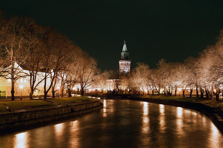 turku cathedral and river