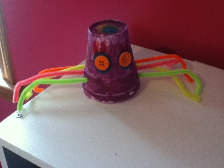 Cute and fun craft to do! Spiders (: