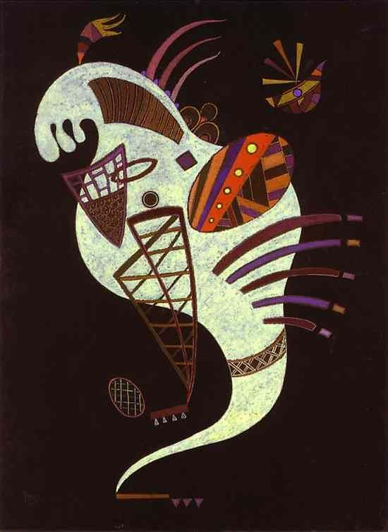 'Figure Blanc', huile de Wassily Kandinsky (1866-1944, Russia)