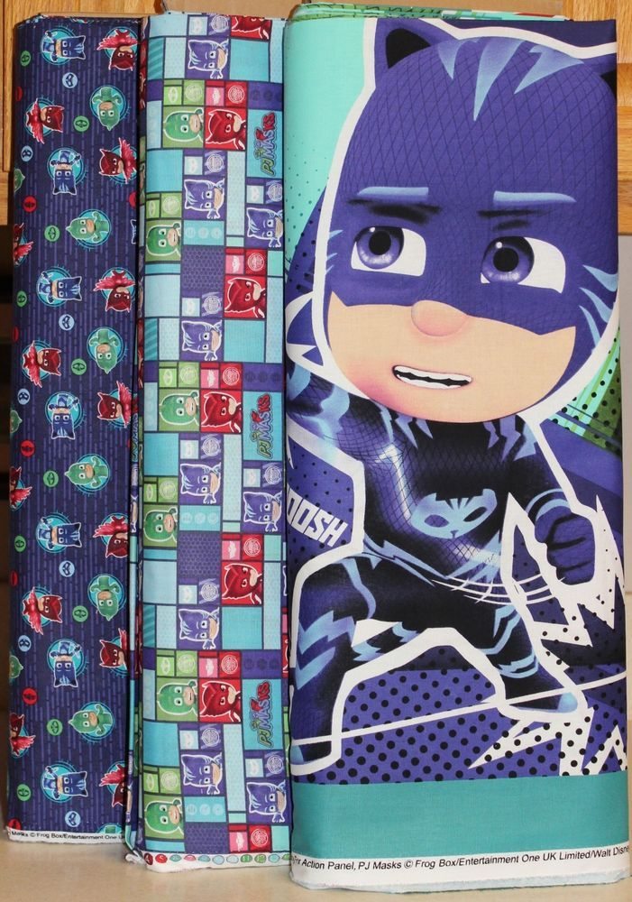 Disney PJ Masks Quilt Panel & Coordinating Fabric bty SOLD SEPARATELY #SpringsCreative
