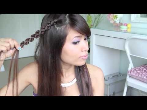Double Snake Braid Headband Hair Tutorial