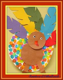photo of: Turkey Art Project for Thanksgiving