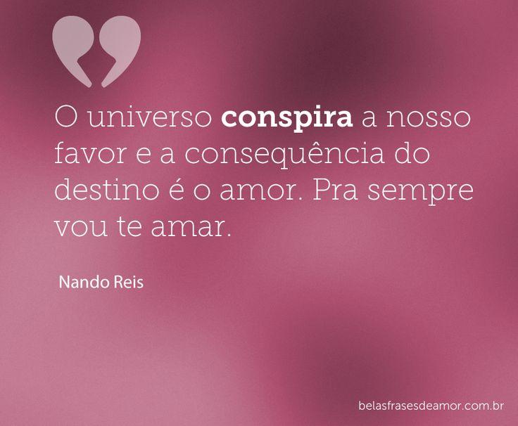 Universo conspirando a favor do verdadeiro amor <3